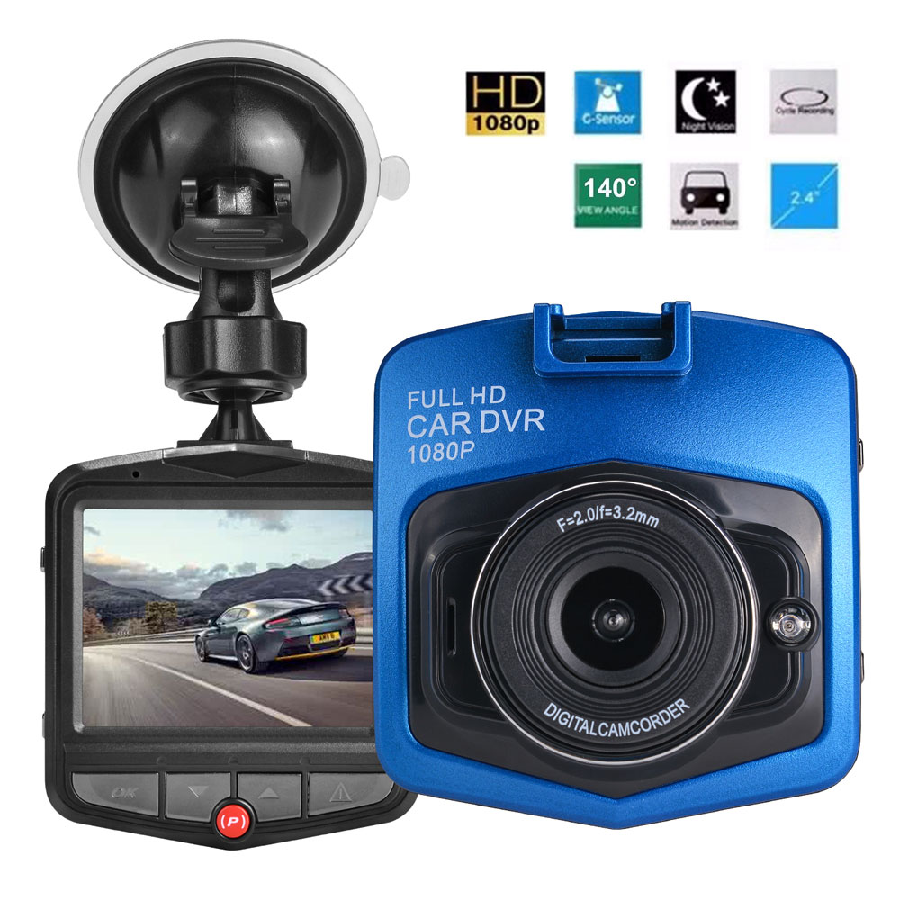 2.4 inches Full HD 1080P GT300 Car DVR Vehicle Camera Video Recorder Dash Cam G-sensor