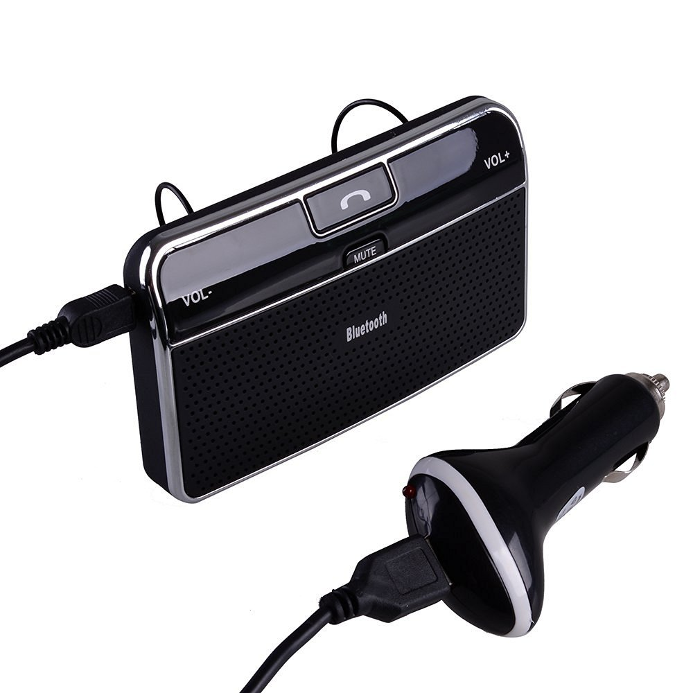 Bluetooth 4.0 Car Kit In-car Hands Free Speakerphone/ MP3 Player/ Music Receiver with Clip
